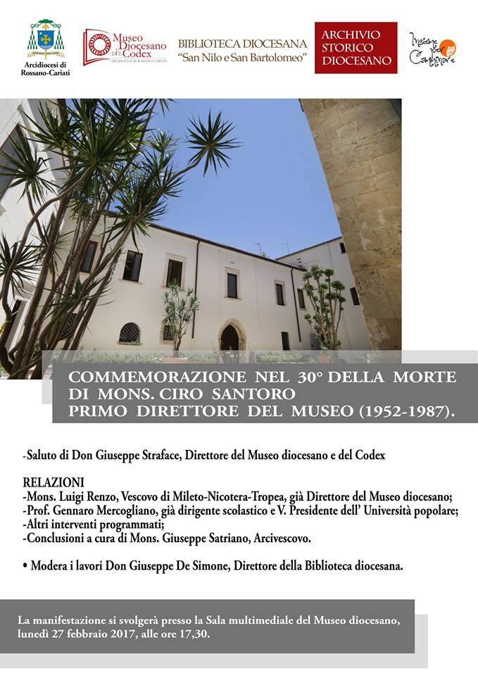 Commemorazione nel 30° dalla morte di Don Ciro Santoro