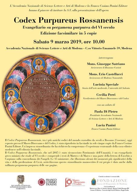 Presentazione Edizione Facsimilare del Codex Purpureus Rossanensis